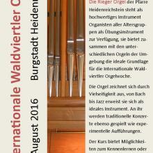 Orgelwoche 2016, Prospekt
