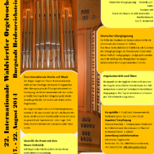 Orgelwoche 2014, Prospekt