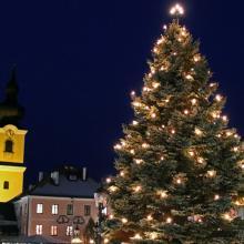 Christbaum am Heidenreichsteiner Stadtplatz