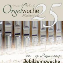 Titelseite des Folders zur 25. Internationalen Orgelwoche in Heidenreichstein