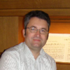 Johann Simon Kreuzpointner an der Orgel